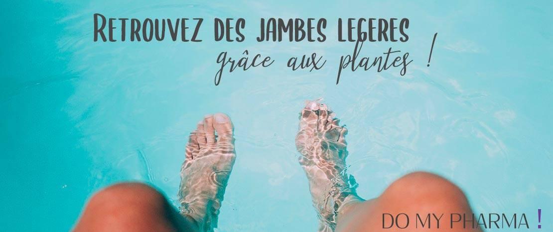 Retrouvez des jambes légères grâce aux plantes