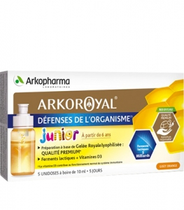 Arkoroyal Gelée Royale + Probiotiques Junior x5