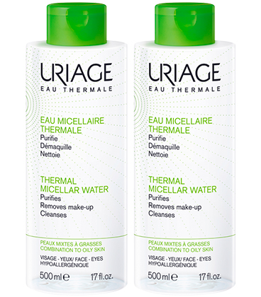 Uriage Eau micellaire thermale peau grasse 2x500ml