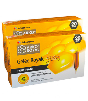 Arkoroyal Gelée Royale 1000mg 2x20 | Comparateur