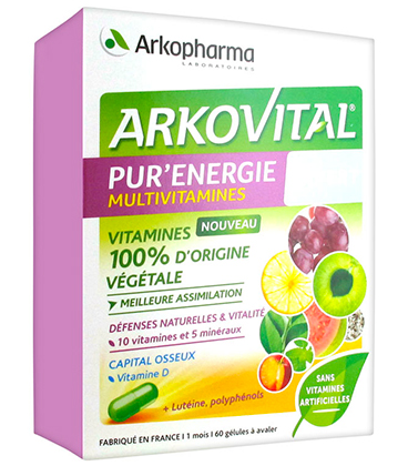Arkopharma Arkovital Pure Energy 50+ Multivitamines x60