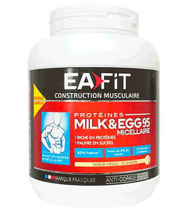 Eafit Milk et Egg 95+ Micellaire Construction Vanille 750g